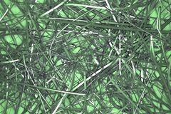 CGI composition, messy strings, virtual backdrop for design texture, background. 3D render. Background abstract, messy strings virtual backdrop CGI composition stock photography