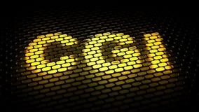 CGI - door de computer geproduceerde beeldspraak vector illustratie