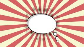 Cgi du hd 1080p de bulle de spech de bande dessinée le plein rendent l'animation 2d plate banque de vidéos