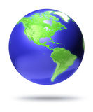 CGI earth globe with America focus. Computer render vector illustration
