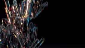 Glittering diamond motion capture man running around stock video