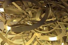 CGI-samenstelling, bos van slordig koord, geometrisch voor ontwerptextuur, achtergrond Het kleurrijke 3d teruggeven vector illustratie