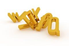 CGI-typografie, alfabetische karakterbrief van ABC voor ontwerptextuur, achtergrond Grafisch, stapel, concept & achtergrond stock illustratie