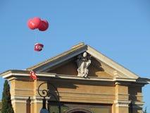 CGIL flag in Rome Stock Photo