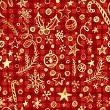 Cgristmas checkered seamless pattern  Stock Image
