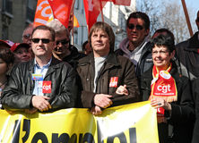 CGT trade union General Secretary Bernard Thibault Royalty Free Stock Image