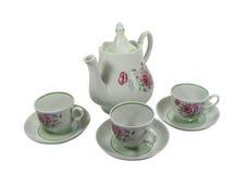Chá-ajuste Imagem de Stock Royalty Free