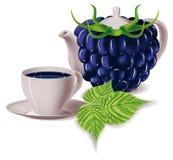 Chá Amoras-pretas Imagem de Stock