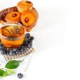 Chá, baga e queques Imagem de Stock Royalty Free