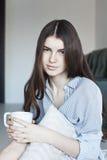 Chá bebendo do adolescente Foto de Stock Royalty Free