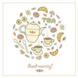 Chá, café e doces Ilustração Royalty Free
