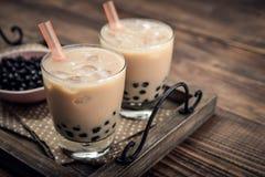 Chá caseiro da bolha do leite imagem de stock
