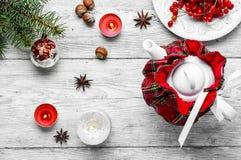 Chá com airela Imagens de Stock