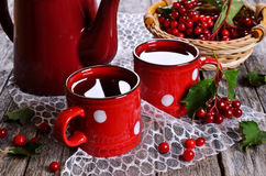 Chá com bagas Imagens de Stock Royalty Free
