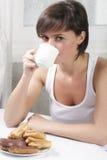 Chá com bolos Imagens de Stock