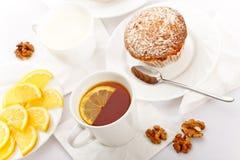 Chá com bolos Fotos de Stock
