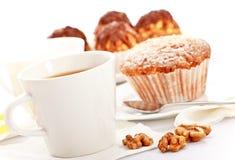 Chá com bolos Imagem de Stock Royalty Free
