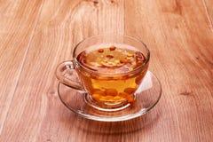 Chá com espinheiro cerval de mar Imagem de Stock Royalty Free