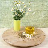 Chá com flores da camomila Fotografia de Stock Royalty Free