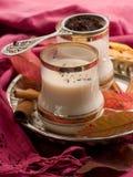 Chá com leite fotografia de stock royalty free