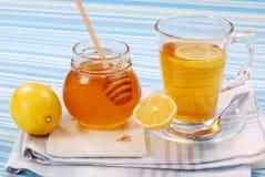 Chá com limão e mel foto de stock