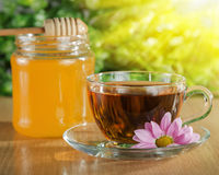 Chá com mel Fotos de Stock Royalty Free