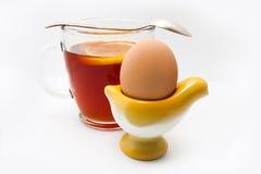 Chá com ovo Fotos de Stock