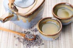 Chá da alfazema foto de stock