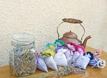 Chá da alfazema e do sábio fotografia de stock royalty free