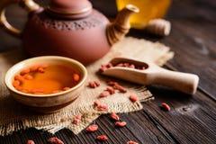 Chá da baga de Goji Fotos de Stock Royalty Free