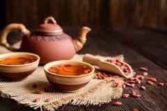 Chá da baga de Goji Fotografia de Stock