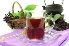 Chá da baga de sabugueiro imagem de stock