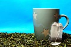 Chá da bebida por uma vida saudável fotos de stock royalty free