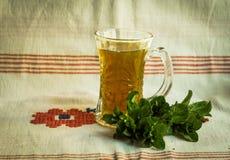 Chá da hortelã Imagem de Stock