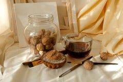 Chá da manhã no estúdio do ` s do artista Fotografia de Stock Royalty Free
