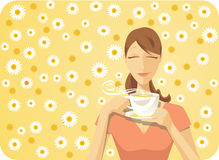 Chá da margarida Imagens de Stock