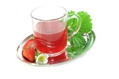Chá da morango Imagens de Stock