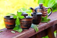 Chá da pastilha de hortelã Fotografia de Stock Royalty Free