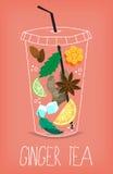 Chá da raiz do gengibre Imagens de Stock Royalty Free