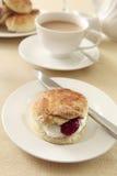 Chá de creme inglês Fotografia de Stock Royalty Free