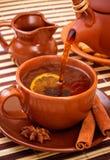 Chá de derramamento Imagem de Stock