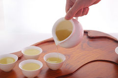 Chá de derramamento Imagem de Stock Royalty Free