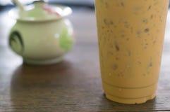 Chá de gelo no vidro plástico Foto de Stock Royalty Free
