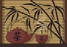 Chá de Japão ilustração stock