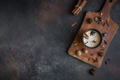 Chá de Masala chai foto de stock