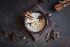 Chá de Masala chai imagem de stock