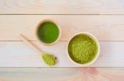 Chá de Matcha fotografia de stock royalty free