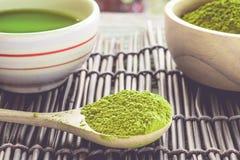 Chá de Matcha Fotografia de Stock
