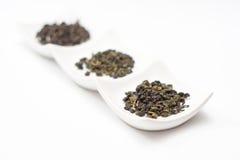 Chá de Oolong e chá do gyokuro Fotografia de Stock