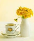 Chá do dente-de-leão Imagens de Stock